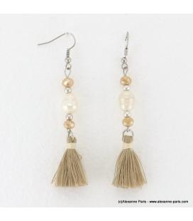Boucles d'oreilles perle d'eau douce Anais