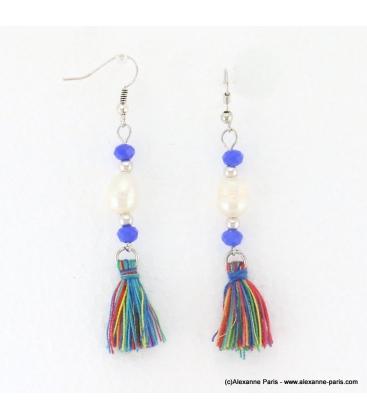 Boucles d'oreilles perle d'eau douce Anais multi