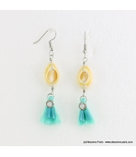 Boucles d'oreilles coquillage cauri Jessy
