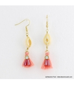 Boucles d'oreilles coquillage cauri Jessy multi