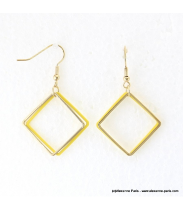 Boucles d'oreilles carrés géométriques Lina