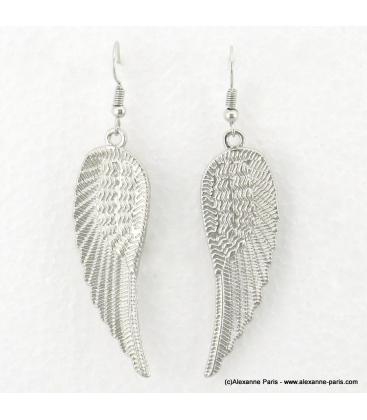 Boucles d'oreilles ailes d'ange Anna