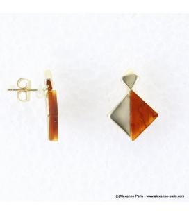 Boucles d'oreilles géométriques marbrées Margot