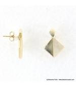 Boucles d'oreilles géométriques marbrées Margot blanc