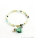 Bracelet avec pierres naturelles Zoé vert