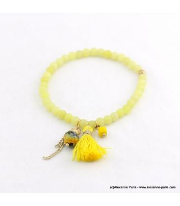 Bracelet avec pierres naturelles Zoé doré