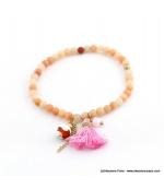 Bracelet avec pierres naturelles Zoé rose