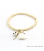 Bracelet avec pierres naturelles Zoé blanc