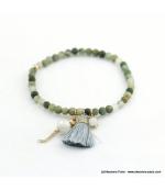 Bracelet avec pierres naturelles Zoé gris foncé