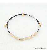 Bracelet avec perles cristal Sandra
