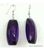 boucles d'oreille ovales violet