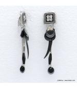 Boucles d'oreilles style bohème à clip Annaëlle
