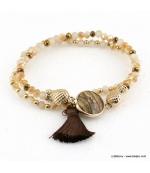 Bracelet charms ananas pierre pompon Éléonore