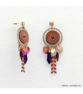 Boucles d'oreilles gypsy rosace Angelina