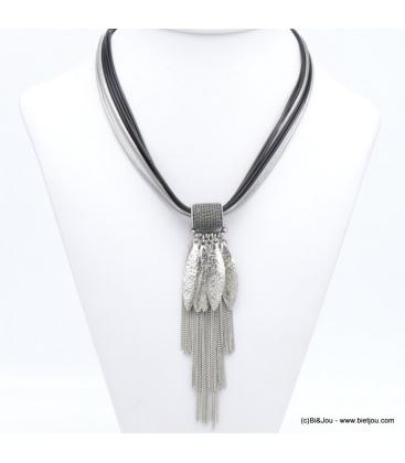 Collier multi-liens métal Natacha