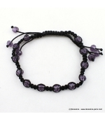 bracelet shamballa filaments violet