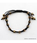 bracelet shamballa filaments doré