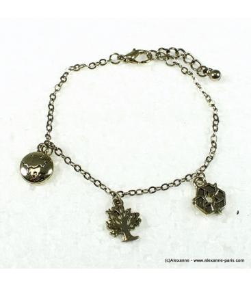 bracelet écolo doré