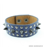 bracelet clou cone spike bleu