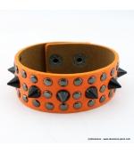 bracelet clou cone spike orange