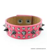bracelet clou cone spike rose