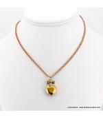 collier Coeur de Cristal doré