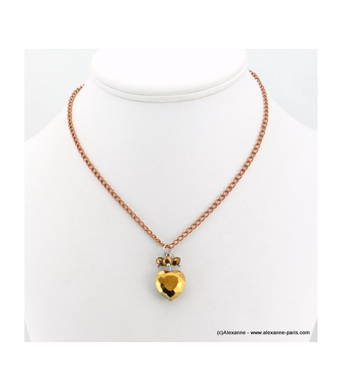 collier coeur de cristal bijoux saint valentin alexanne. Black Bedroom Furniture Sets. Home Design Ideas