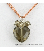 collier Coeur de Cristal anthracite