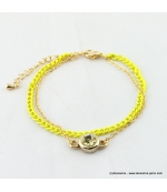 bracelet double flashy fluo