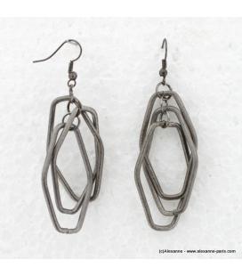 Boucles d'oreille losange