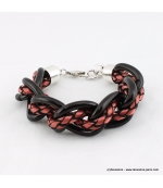 Bracelet Grosses mailles marron
