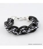 Bracelet Grosses mailles blanc