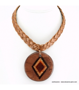 Collier Indien marron