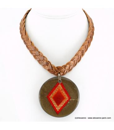 Collier Indien rouge