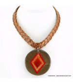 Collier Indien rouge