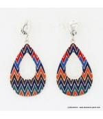 Boucles d'oreille Aztèque multi